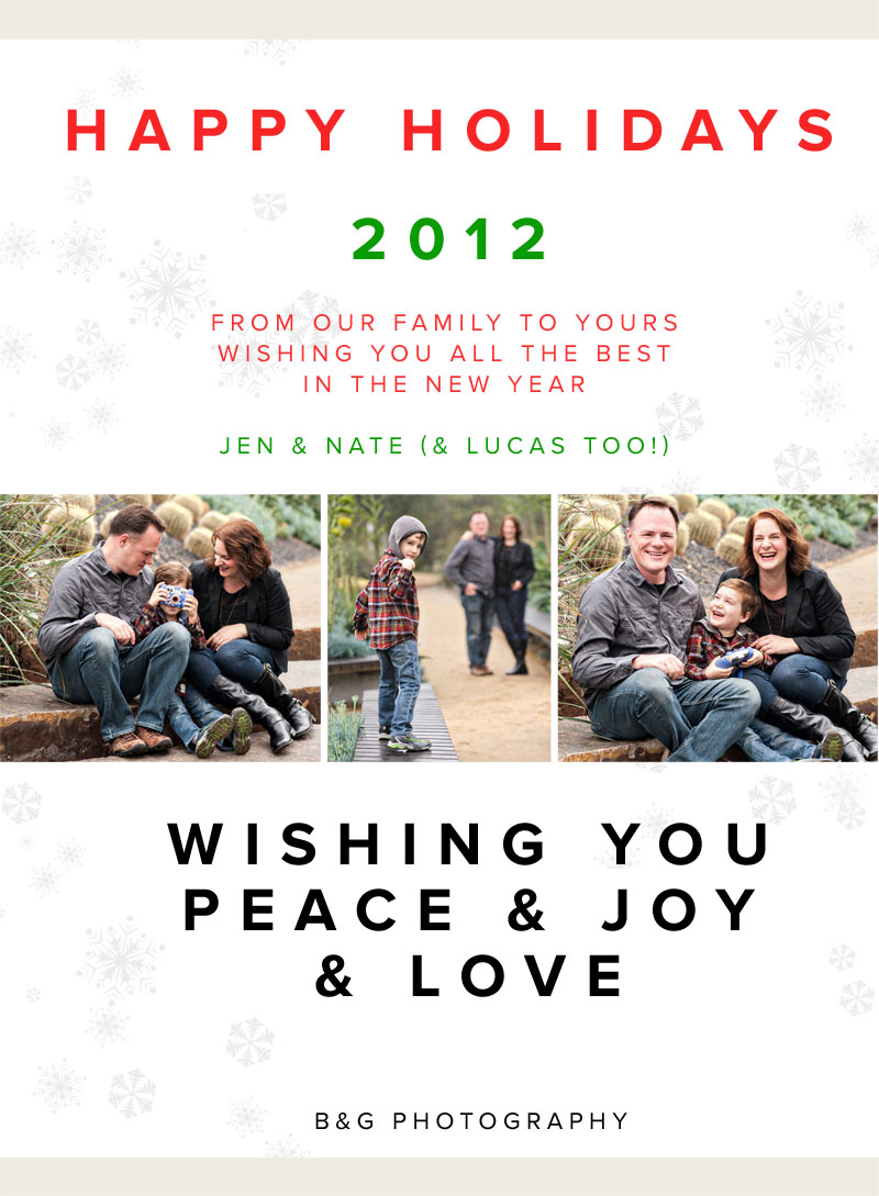 Happy Holidays from B&G Photography