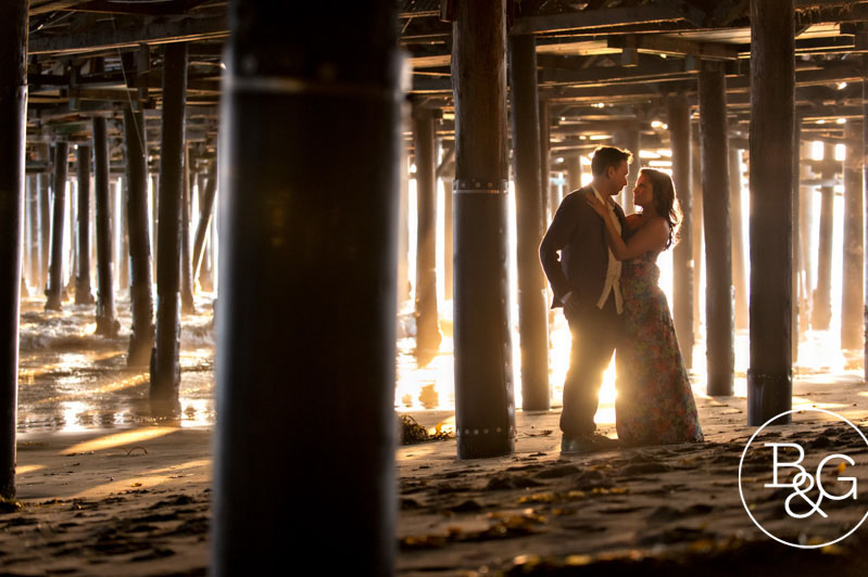 Tracy & Braden, Santa Monica Pier Engagement Session, Los Angeles Wedding Photographer