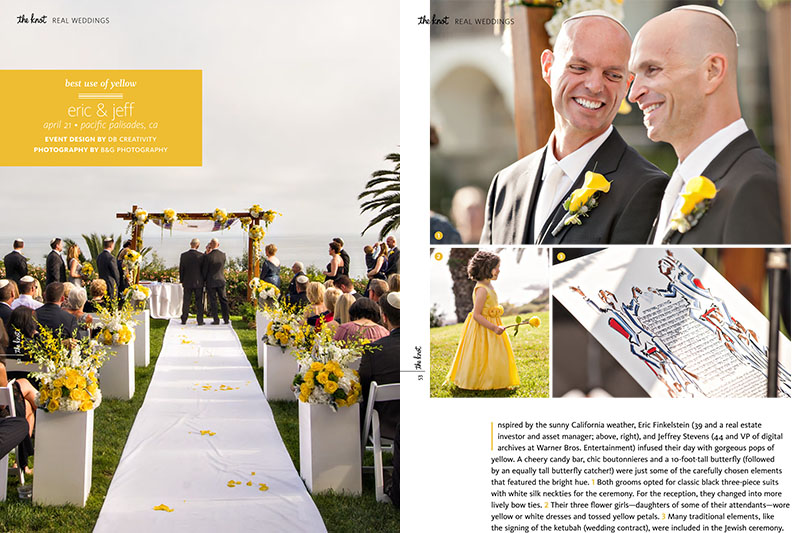 B&G Photography Featured in Gay Weddings from The Knot, Los Angeles Wedding Photographer