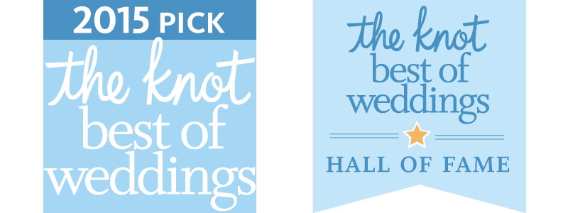B&G Photography wins The Knot's Best of Wedding 2015 & Hall of Fame Awards