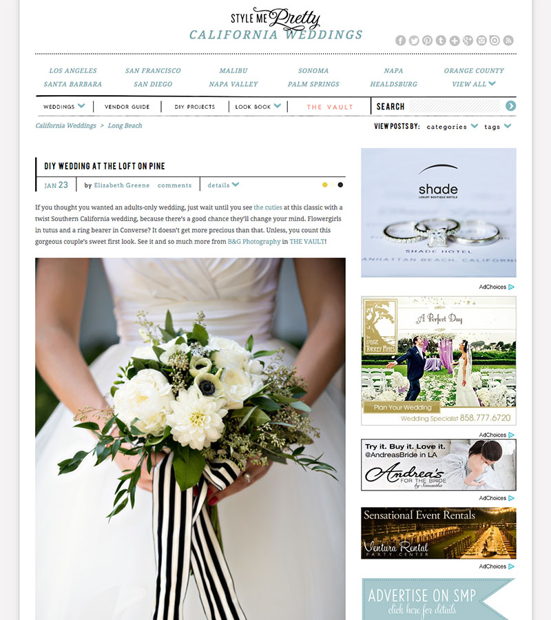 B&G Photography The Loft on Pine Wedding Featured on Style Me Pretty
