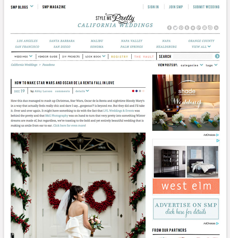 B&G Photography The Valley Hunt Club Wedding Featured on Style Me Pretty